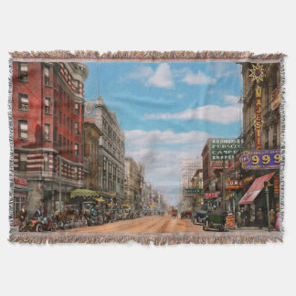 City - Memphis TN - Main Street Mall 1909 Throw Blanket