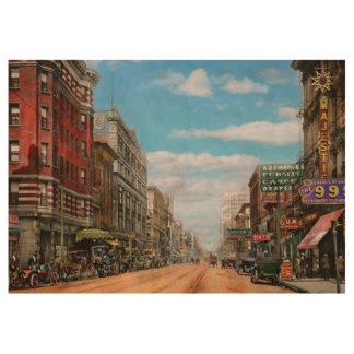 City - Memphis TN - Main Street Mall 1909 Wood Poster