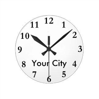 City Name Clock Template