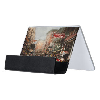 City - New Orleans - A look at St Charles Ave 1910 Desk Business Card Holder
