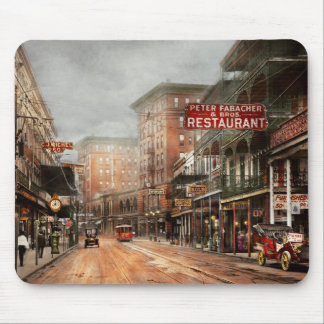 City - New Orleans - A look at St Charles Ave 1910 Mouse Pad
