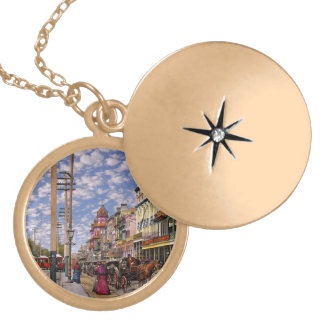 City - New Orleans the Victorian era 1887 Locket Necklace