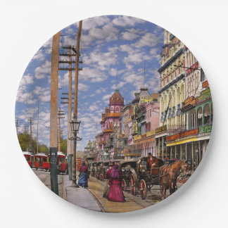 City - New Orleans the Victorian era 1887 Paper Plate