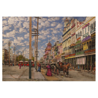 City - New Orleans the Victorian era 1887 Wood Poster