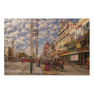 City - New Orleans the Victorian era 1887 Wood Print