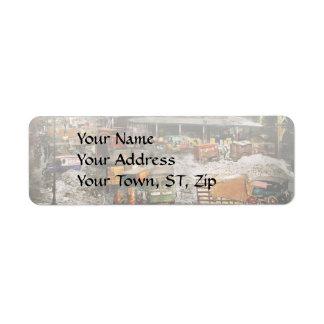 City - New York NY - Stuck in a rut 1920 Return Address Label