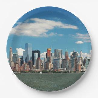 City - New York NY - The New York skyline 9 Inch Paper Plate