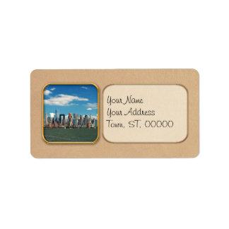 City - New York NY - The New York skyline Address Label