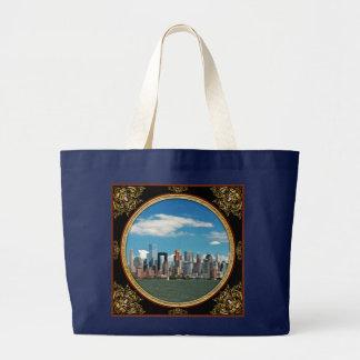 City - New York NY - The New York skyline Large Tote Bag