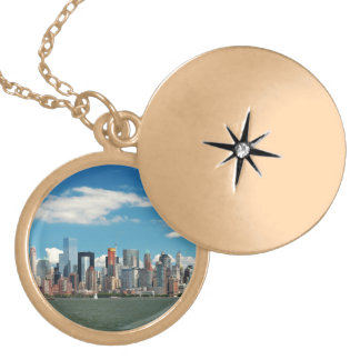 City - New York NY - The New York skyline Locket Necklace