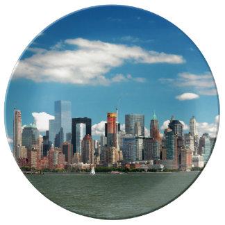 City - New York NY - The New York skyline Porcelain Plates