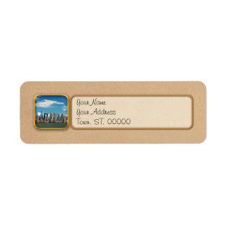 City - New York NY - The New York skyline Return Address Label