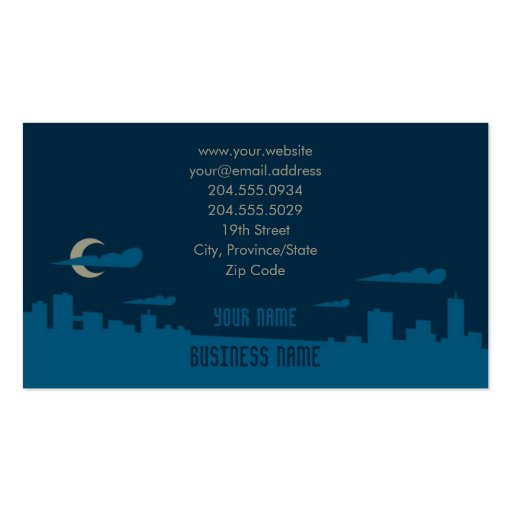 City Night Silhouette Business Card
