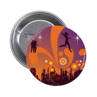 City nightlife design button