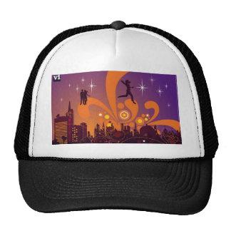 City nightlife design trucker hat