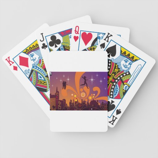 City nightlife design playing cards
