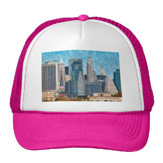 City - NY - A touch of the city Mesh Hats