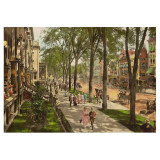City - NY -  I would love to be on Broadway 1915 Wood Poster