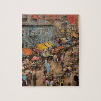 City - NY - Jewish market on the East Side 1890 Jigsaw Puzzle