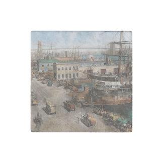 City - NY - South Street Seaport - 1901 Stone Magnet
