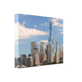 City - NY - The colors of a city Stretched Canvas Print