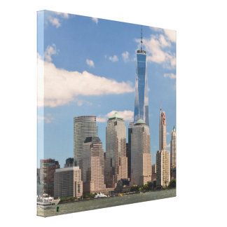 City - NY - The colors of a city Stretched Canvas Prints