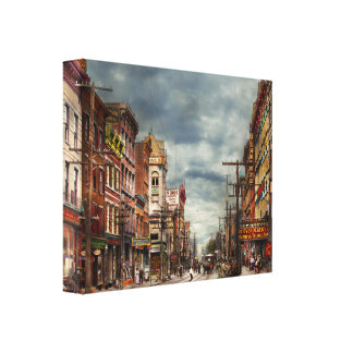 City - NY - The ever changing market place 1906 Canvas Print