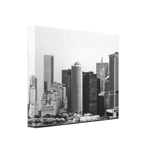 City - NY - The financial district - BW Canvas Prints