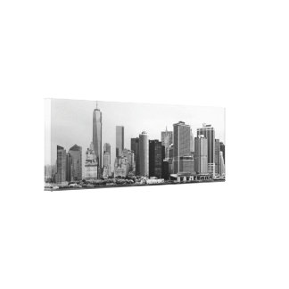 City - NY - The financial district - BW Canvas Print