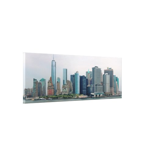 City - NY - The financial district Stretched Canvas Prints