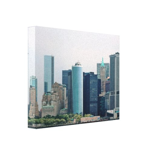 City - NY - The financial district Canvas Print