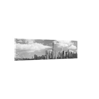 City - NY - The shades of a city Stretched Canvas Print