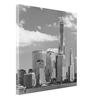 City - NY - The shades of a city Stretched Canvas Prints