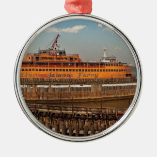 City - NY - The Staten Island Ferry Metal Ornament