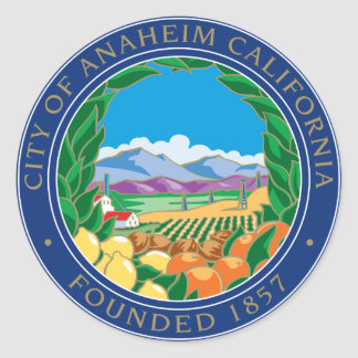 City of Anaheim Logo Classic Round Sticker