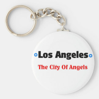 City of angels basic round button key ring