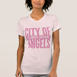 City Of Angels - Los Angeles | Dark Pink T-Shirt