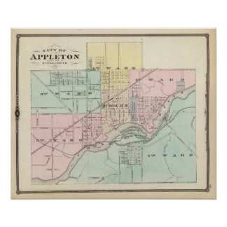 City of Appleton, county seat of Outagamie Co Poster