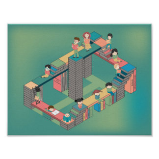 City of books for children education and young cul poster