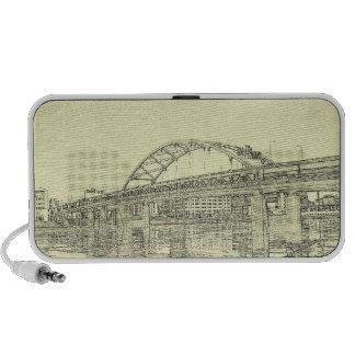 City of Bridges Doodle Speaker
