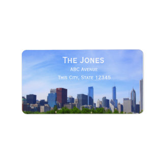 City Of Chicago address/customizable Label Address Label