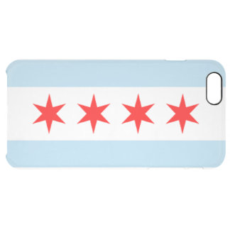City of Chicago Flag Clear iPhone 6 Plus Case