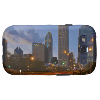 City of Chicago Skyline Chicago Illinois USA Samsung Galaxy SIII Cases