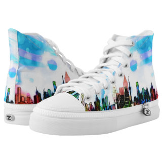 City of Color Hi Top Shoes Printed Shoes
