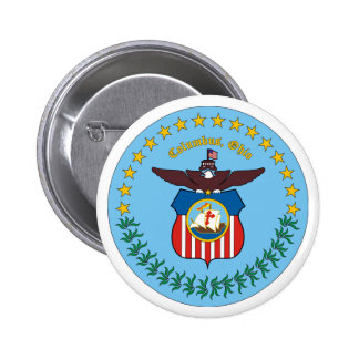 City of Columbus Logo 6 Cm Round Badge