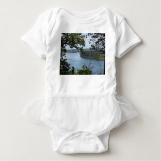 City of Dubuque, Iowa on the Mississippi River Baby Bodysuit