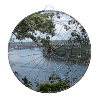 City of Dubuque, Iowa on the Mississippi River Dartboard