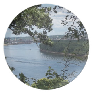 City of Dubuque, Iowa on the Mississippi River Plate