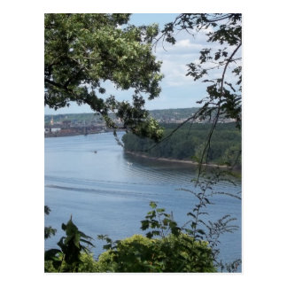 City of Dubuque, Iowa on the Mississippi River Postcard
