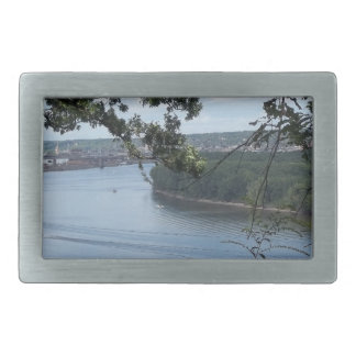 City of Dubuque, Iowa on the Mississippi River Rectangular Belt Buckle